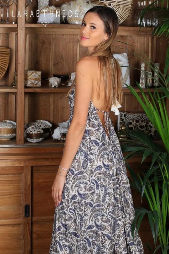 OPEN BACK LONG DRESS - PETAL
